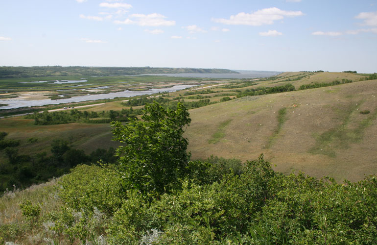 view of the Qu'Appelle Valley looking northeast toward Last Mountain ...